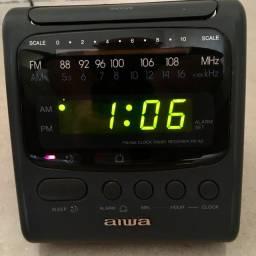 Rádio Relógio am/fm Vintage original funcionando perfeitamente usado