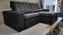 Título do anúncio: Sofá 2,90m Largura Retrátil Reclinável com Pillow Alto - Dividimos 10 x S/ Juros
