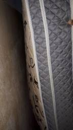 1 cama casal  box  padrão  colchão solto cor cinza seme nova 600