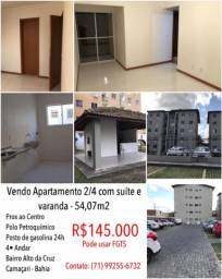 Título do anúncio: APARTAMENTO - CAMAÇARI CENTRO C/ SUITE E VARANDA