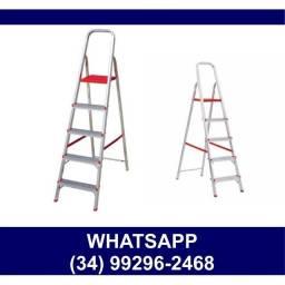Título do anúncio: Escada Alumínio Botafogo 5 Degraus ou 6 Degraus * Consulte Valores
