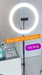 Título do anúncio: Ring light 12 polegadas completo com tripé promoção