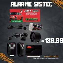 Alarme Automotivo Sistec Sxt 986 Com Travamento 2 Controles