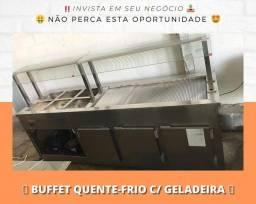 Buffet conjugado (Aquecido / Refrigerado) Para restaurante | Matheus