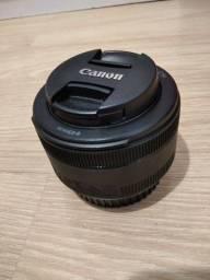 Título do anúncio: Lente 50mm Canon f/1.8 STM