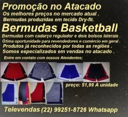 Bermudas Profissional Basketball Diversos Tamanhos Cores Promoção Atacado