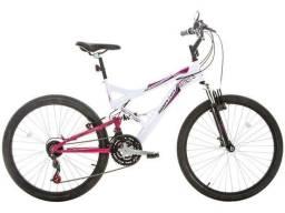 Bicicleta Houston Vivid Aro 26 21 Marchas - Dupla Suspensão Quadro de Aço Freio V-Brake<br><br>