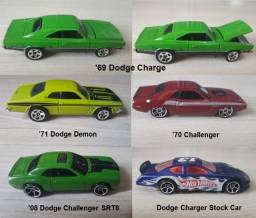 Lote Dodge com 05 miniaturas Hot Wheels 1:64