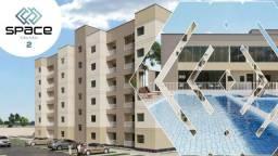 condominio space calhau 2, com 2 quartos