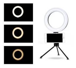 Título do anúncio: Ring light 6 polegadas  NOVOS com tripé de mesa completo