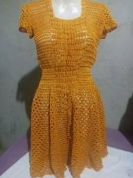 Vestidos de crochê adulto