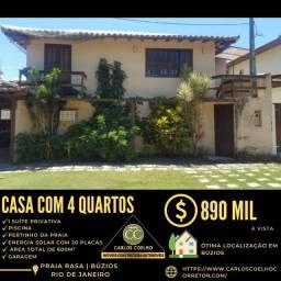 Título do anúncio: Gf  Espetacular casa na Praia Rasa em Búzios/RJ.