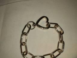 Colar e pulseira de coração. #colarepulseira