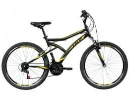 Mountain Bike Aro 26 Caloi Andes Aço Freio V-Brake - 21 Marchas<br><br>