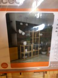2 estantes de madeira Spaceo