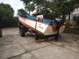 Barco alumínio 4 metros e 30 cm legalizado pela Marinha
