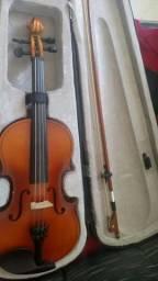 Violino com case arco e dois breus