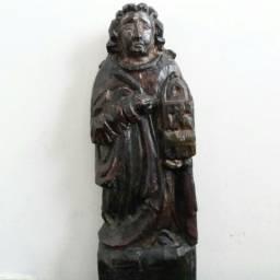 Arte sacra - santa barbara em madeira - século xix - minas