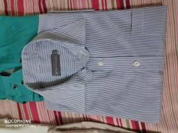USADA - Camisa Social Colombo N°3 Azul Listrada