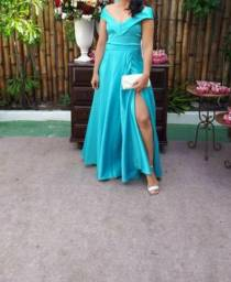 Vestido Longo Azul - Traje de Gala