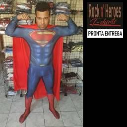 Fantasia Superman Liga da Justiça Cosplay Adulto