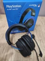Fone Hyperx Cloud Blue - PS4/Pc