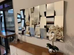 Espelho quadriculado 3D