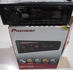 Som Pioneer novo na caixa