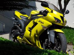 Kawasaki Ninja zx-6r 08 única no Rio amarela c/ apenas 9.800km.