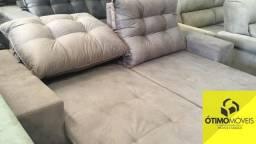 Sofá retrátil e reclinável 2m R$:1499 ou 10x de 159,90
