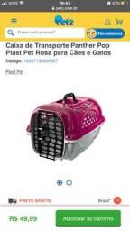 Caixinha roxa para gatos pouco usada