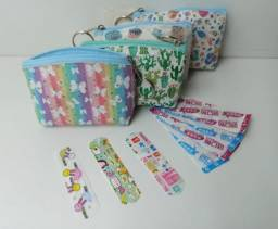 Curativo Infantil Bandagem Divertido Band Aid 60 Uni + Bolsa
