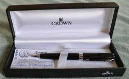 Caneta Crown - Conquist Esferográfica - Preta
