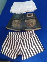 Dois lindos shorts e um lindo short saia. Tudo Tam P.