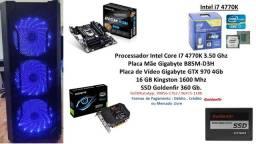 PC Gamer Core I7 4770K 16Gb Gtx 970 4Gb + Brindes !!!