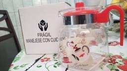 Jarra de vidro Café Charmosa