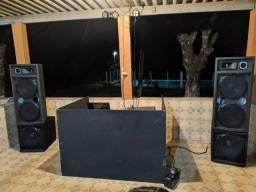 Caixa de Som para festa, caixas alta e sub
