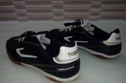 Chuteira Topper Titanium 43 44 Futsal Lançamento Linda Ac.Cartão*Entrega Grátis Até 23h