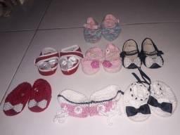 Kit com 7 pares de sapatinhos