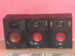 Vendo esses três caixas de som da marca Philco