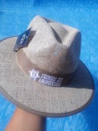 Chapéu de juta australiana fita bordada!!!