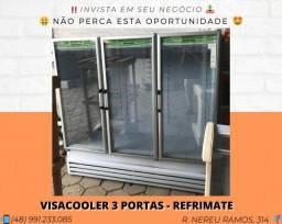Geladeira expositora para Bebidas 3 portas / 2000 Litros - Refrimate| Matheus