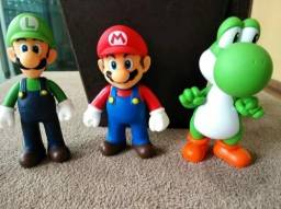Action Figure Com 3 Personagens Super Mario