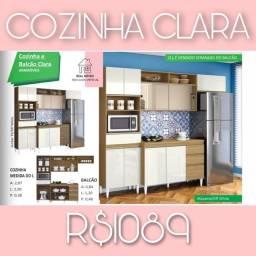 Cozinha completa clara por 1089,00