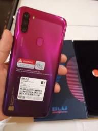 Celular Blu G90 / 3gb + 64gb / magenta / novo na caixa com nota