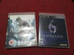 Resident evil 6 e Assassins Creed PS3