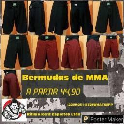 Bermudas Profissional MMA Diversos Tamanhos Cores Promoção Atacado