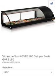 Sushi case c vitrine refrigerada