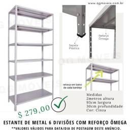 Título do anúncio: Estante Metal com reforço Omega Mais Reforçada
