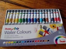 Título do anúncio: TINTA AQUARELA Arts Water Colours 18 cores